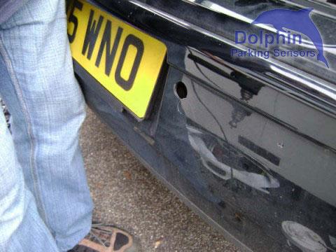 Golf holes for parking sensor
