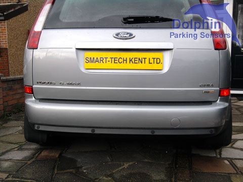 Ford Focus in Silver with sensors fitted