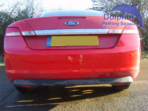 Parking Sensors on Ford Focus Cabriolet, Red