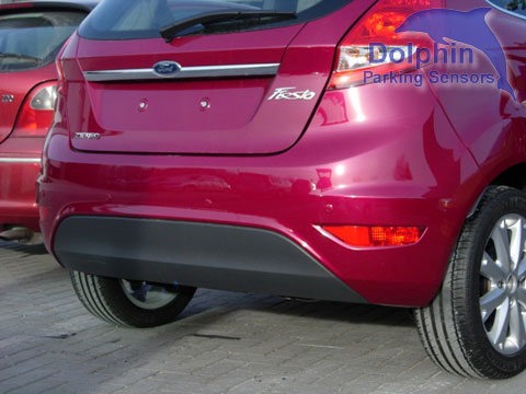 Parking Sensors on Ford Focus Zetec, Matt Black Sprayed