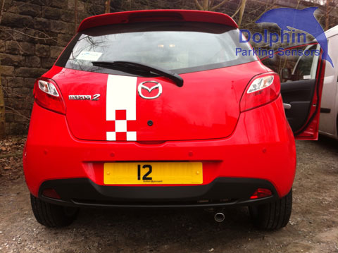 Parking Sensors fitted to Mazda2