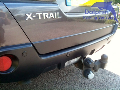 Towbar with parking sensors