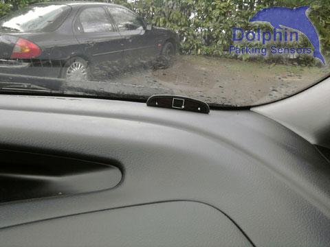 Display mounted on Toyota Dashboard