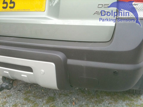 2 different colours of parking sensor supplied